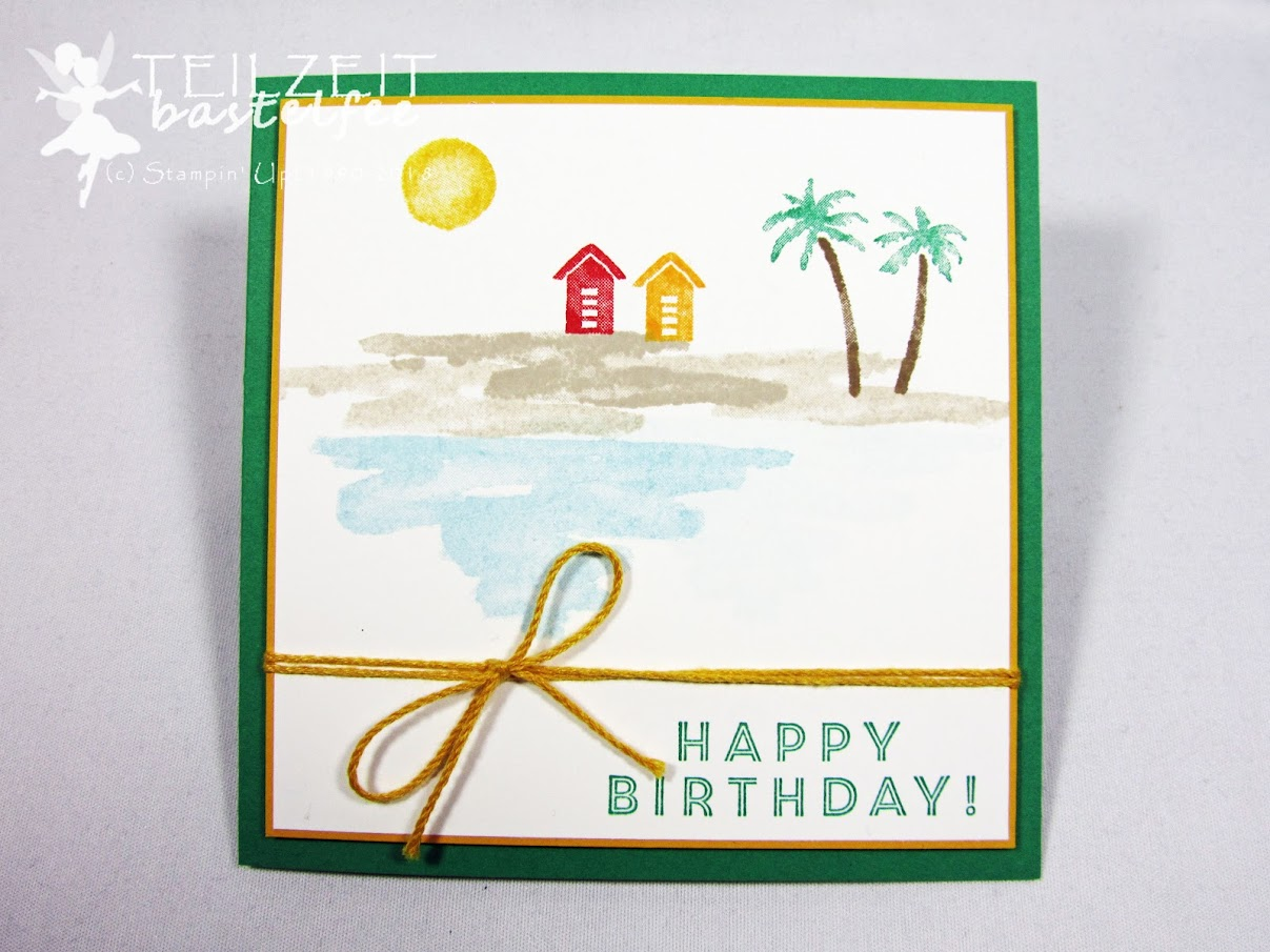Stampin' Up! - Inkspire_me #385, Sketch Challenge, Color Challenge, Am Ufer, Waterfront, Birthday, Geburtstag