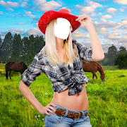 Cowgirl Photo Montage