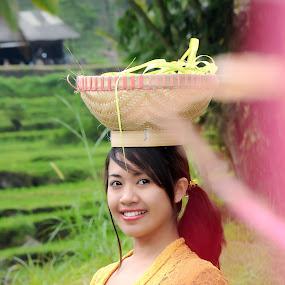 bali girl with old school fashion Balinese by Made Weli Rtanaya (EBENK) - People Fashion