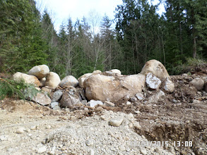 Photo: BOULDERS HEAPED AT THE SITE