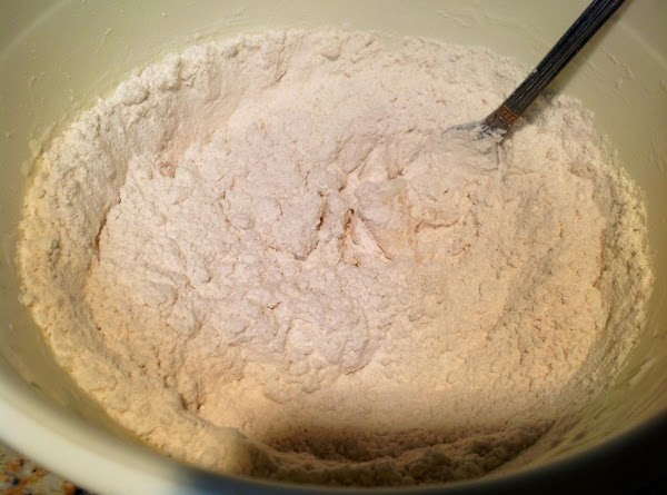 Stir flour and salt into mixture.
