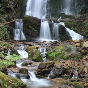 Koleshino waterfall by Emil Chuchkov - Landscapes Waterscapes ( cuckove canon koleshino macedonia )