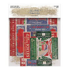Tim Holtz Idea-Ology Vignette Box Tops 5/Pkg - Christmas 2020