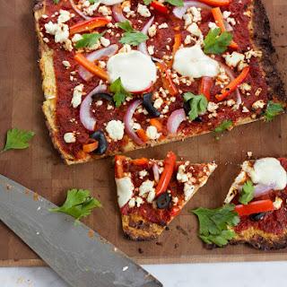Mediterranean Cauliflower Pizza.