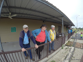 Photo: Dennis Cranston, CLyde Brown and Gary Brothers observing the activities - HALS Public Run Day 20150321 Bill Smith Photo