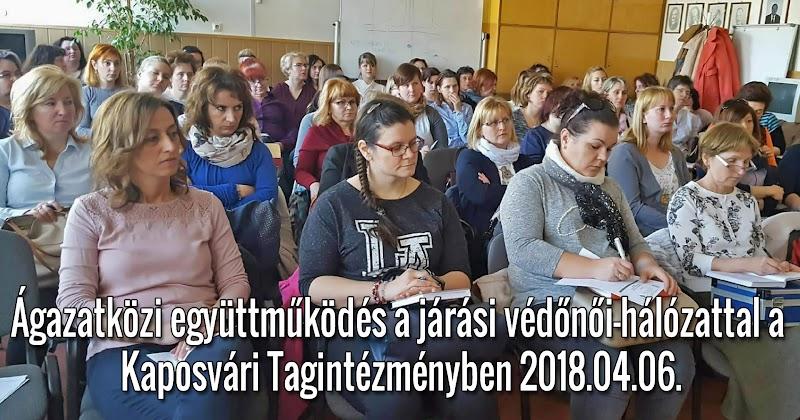 Ágazatközi együttműködés a járási védőnői-hálózattal a Kaposvári Tagintézményben 2018.04.06