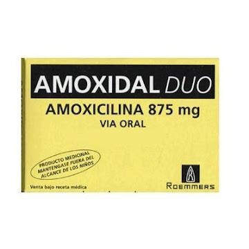 Amoxidal Dúo 875mg.