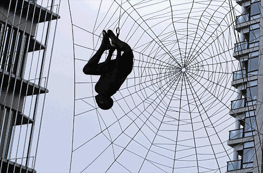 WEB SITE: A stuntman at the world premiere of 'The Amazing Spider-Man' in Tokyo on Wednesday