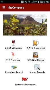 theCompass Winery Brewery App- screenshot thumbnail