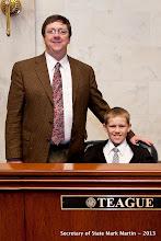 Photo: 3-27-13 Sen Teague with Cole Reeder