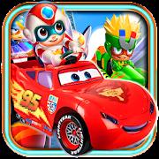 happy mcqueen superman - lightining car racing