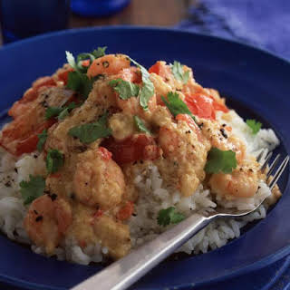Thai Style Shrimp Curry with Tomatoes.