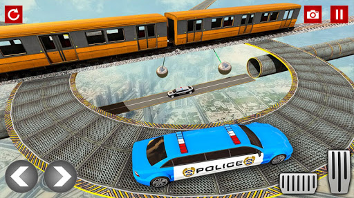 Police Limo Car Stunts GT Racing: Ramp Car Stunt modavailable screenshots 2