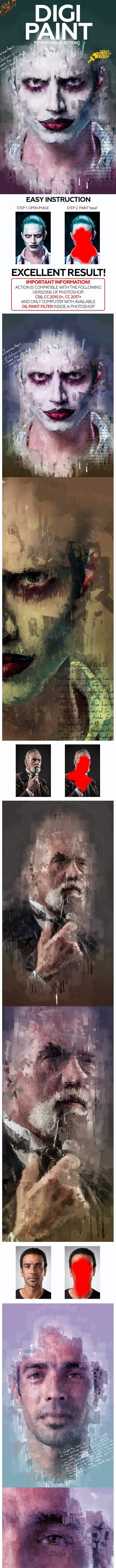 Digi Paint Photoshop Action – Sourcepsd com