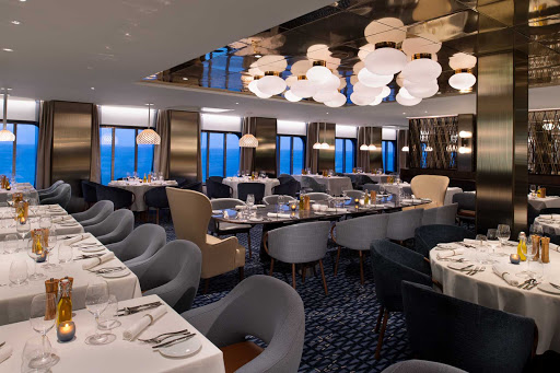Cyprus is a complimentary restaurant serving Mediterranean fare with a focus on Greek specialties on Celebrity Edge class ships.