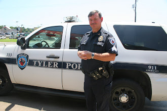 """Photo: Sgt Perkins Supervisor of the Tyler PD in Specific of Offc. Hudson Whom Had Stopped me  on The Sidewalk in Front of Alberston's  Claiming that a Caller saw a Black male  walking in the Middle of The Street  with a Camera and Papers in Hand . I told Offc Hudson that this was a False Report Texas Penal Code 37.08 and then Hudson stated """" You are Detained, Now  Show me Some ID and I explained the 5th Amendment and the Texas Penal Code Failure To ID and The Difference Between a Terry State vs a Hibel State  (ID required during Detention or you can be arrested)  Hudson Then stated that """"YOU CAN BE ARRESTED FOR FAILURE TO ID """" I explained again that he needed to Look Up The Law and Call The Dispatcher and Look in Police Chief Magazine and the Dallas Morning News for The Explanation of AFTER The ARREST and That If He Did Arrest me He would Have No PROBABLE CAUSE Under the Texas Penal Code 38.02.  I then Told him To look in His RED BOOK of TEXAS PENAL CODES just Like The Tyler PD False Detention on Front St -Cotton"""