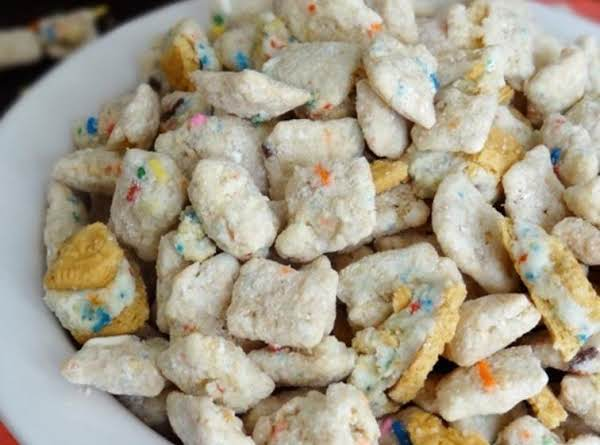 Golden Birthday Cake Oreo Puppy Chow Recipe Just A Pinch Recipes