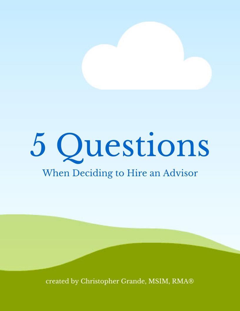 questions when hiring an advisor
