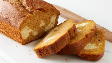 Cheesecake-Stuffed Pumpkin Bread
