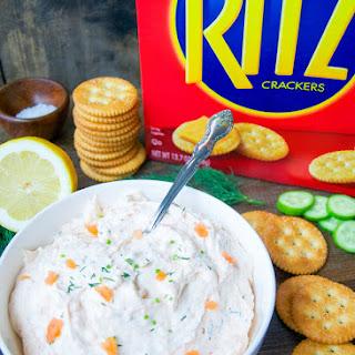Smoked Salmon Spread Bites With RITZ® Crackers.