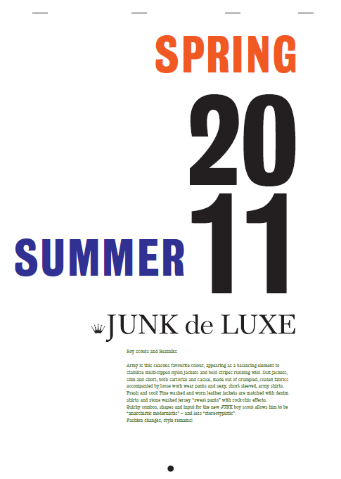 Boy scouts and Beatniks: Junk De Luxe Newspaper