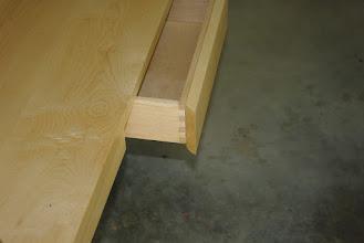 Photo: Corner Desk drawer detail.