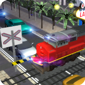 Vegas Railroad Car Traffic 3D