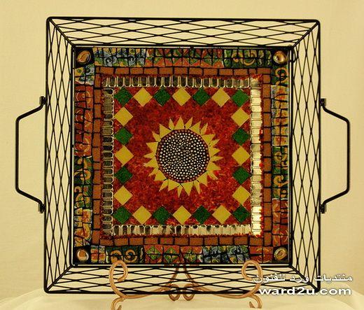 الفسيفساء تحف و روائع بخامات متنوعه Mosaic