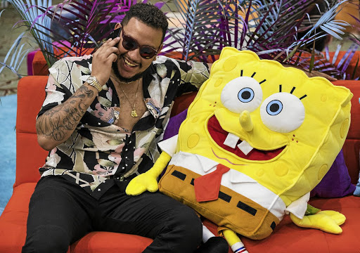 AKA with SpongeBob at the Nickelodeon Kids Choice Awards in Los Angeles.