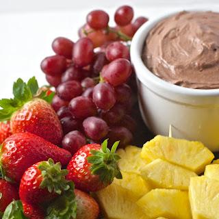 Chocolate Cream Cheese Fruit Dip.
