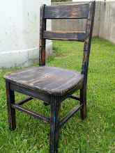Photo: ANTQ. OAK CHILD'S CHAIR, PAINTED & DISTRESSED