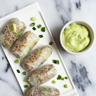 Green Goddess Spring Rolls with Avocado Dipping Sauce Recipe