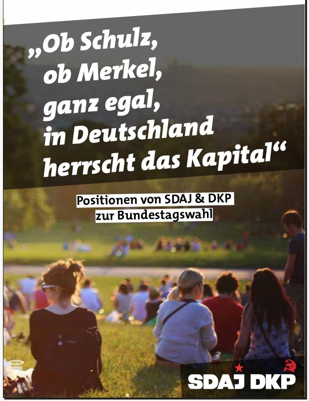 Jugendliche auf einer Wiese:«Ob Schulz, ob Merkel, ganz egal, in Deutschland herrscht das Kapital».