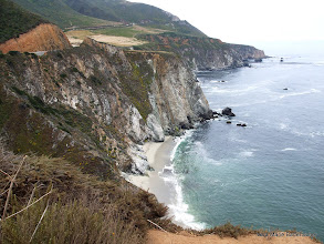 Photo: Steep cliffs, Big Sur Coast