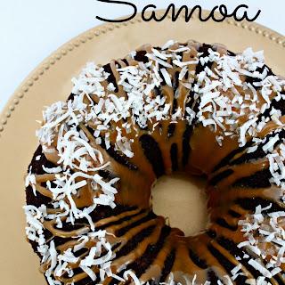 Simple Samoa Bundt Cake.
