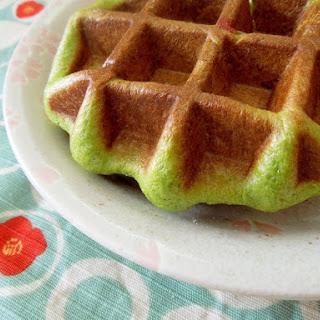 Matcha Azuki Waffles with Sweet Bean Filling