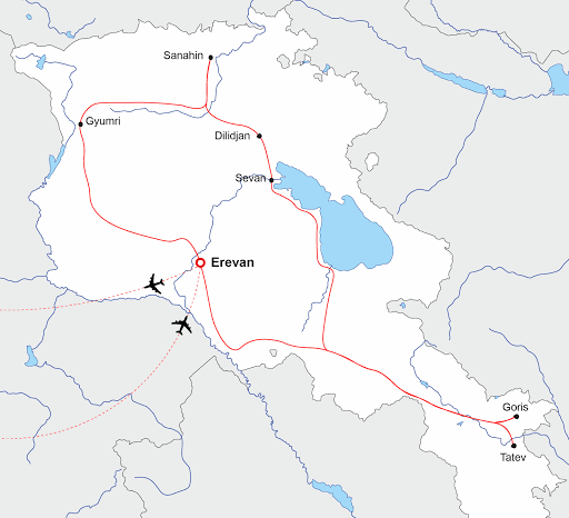 Carte Arménie