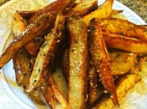Cheesy Garlic Truffle  Potato Wedges Recipe
