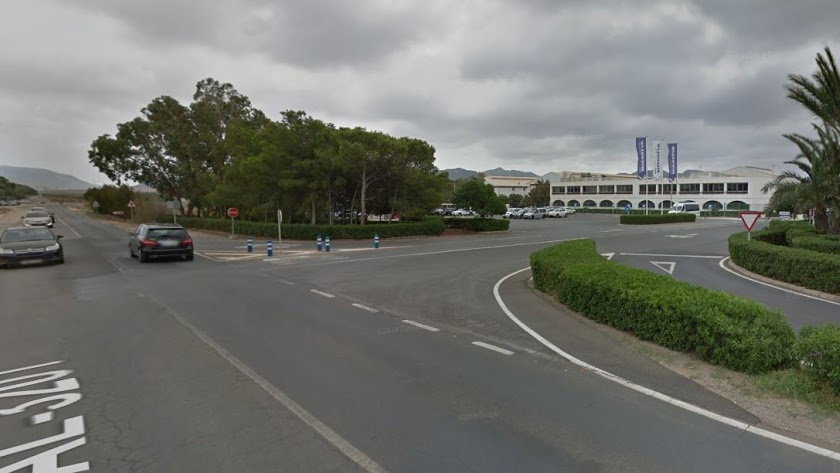 Captura de pantalla de Google Maps de la carretera AL3201.