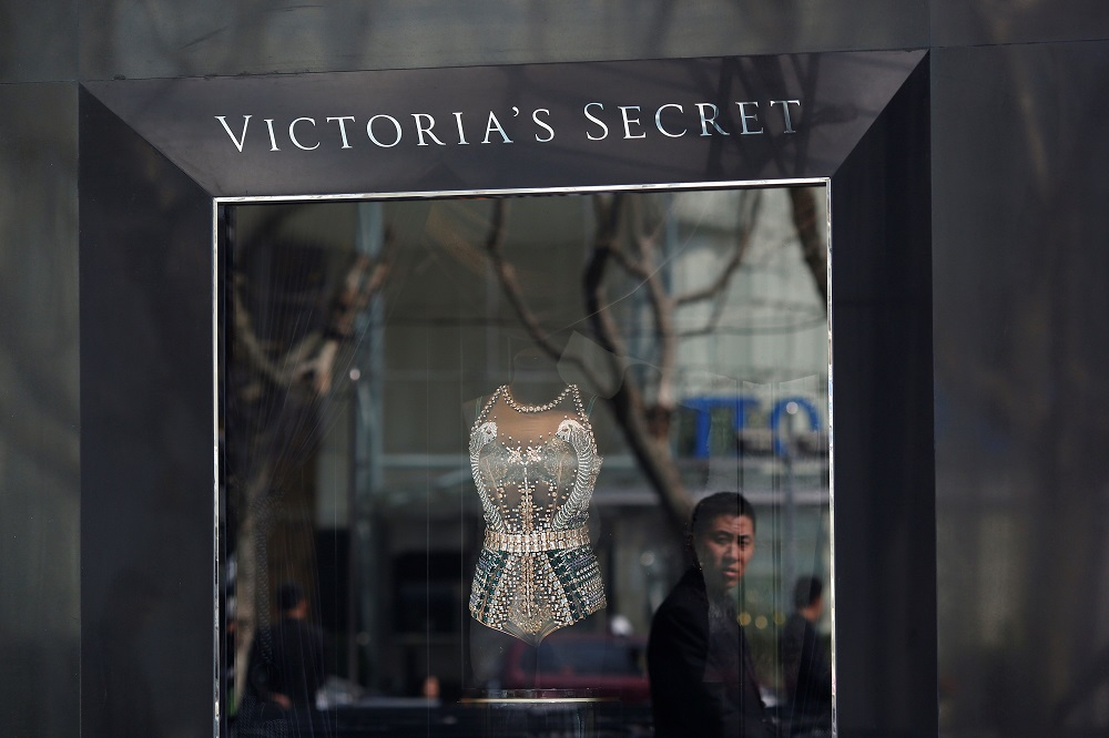 Revealed: Victoria's Secret leaves home in a tracksuit and tekkies