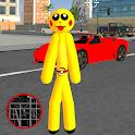 Pokiman Stickman Rope Hero - Gangters Go Fight icon