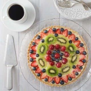 French Patisserie Fruit Tart.