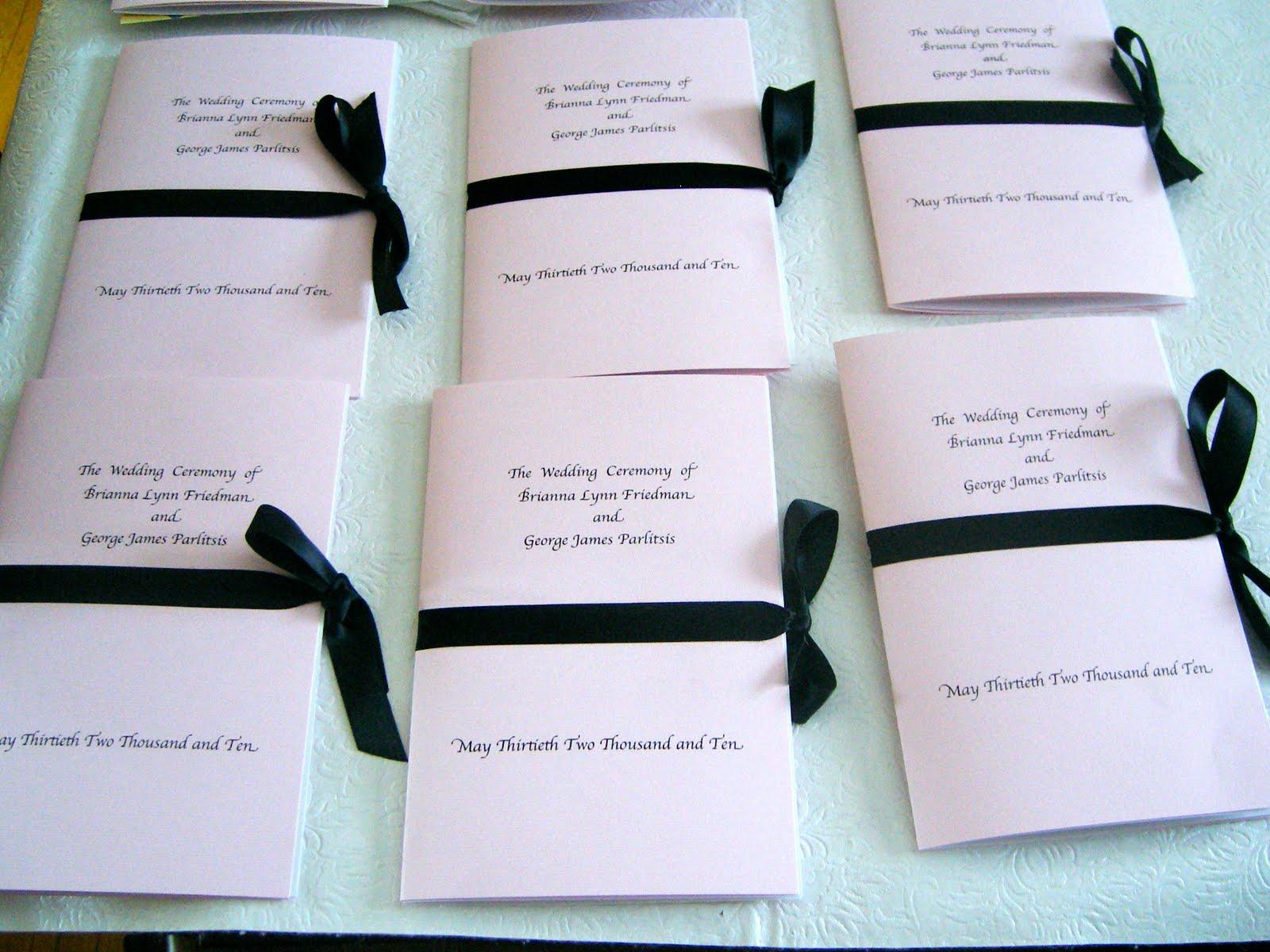 geor te s blog wedding program ideas