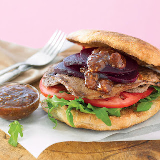Steak Sandwiches with Beets and Mustard Chutney