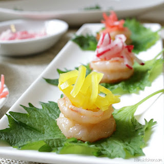 Shrimp Boats with Pickled Radish