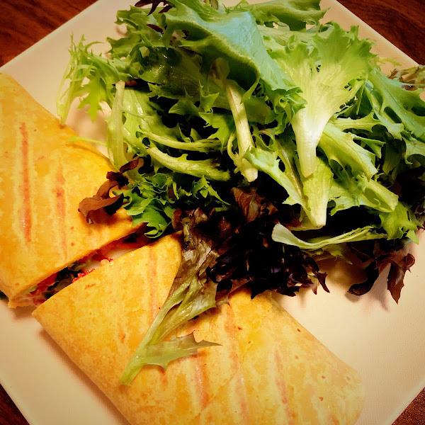 Vegan and gluten-free veggie wrap