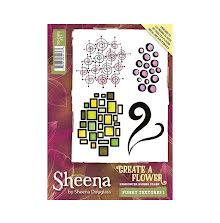 Sheena Douglass Create a Flower A6 Rubber Stamp - Funky Textures 1 UTGÅENDE