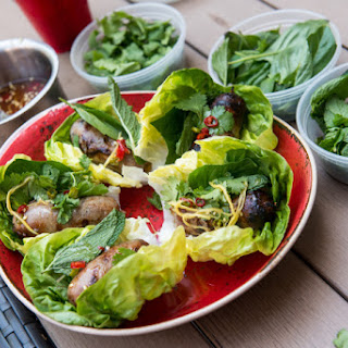 Harold Dieterle's Chiang Mai Sausage Lettuce Cups