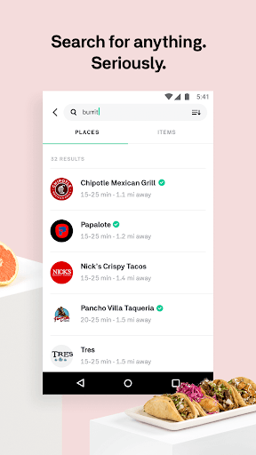 Postmates Food Delivery: Order Eats & Alcohol app (apk) free download for Android/PC/Windows screenshot