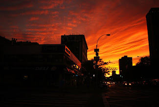 Photo: Sunset over Delancey Street.   Lower East Side, New York City.  View the writing that accompanies this post here at this link on Google Plus:  https://plus.google.com/108527329601014444443/posts/PCEWw94KJEu  View more New York City photography by Vivienne Gucwa here:  http://nythroughthelens.com/